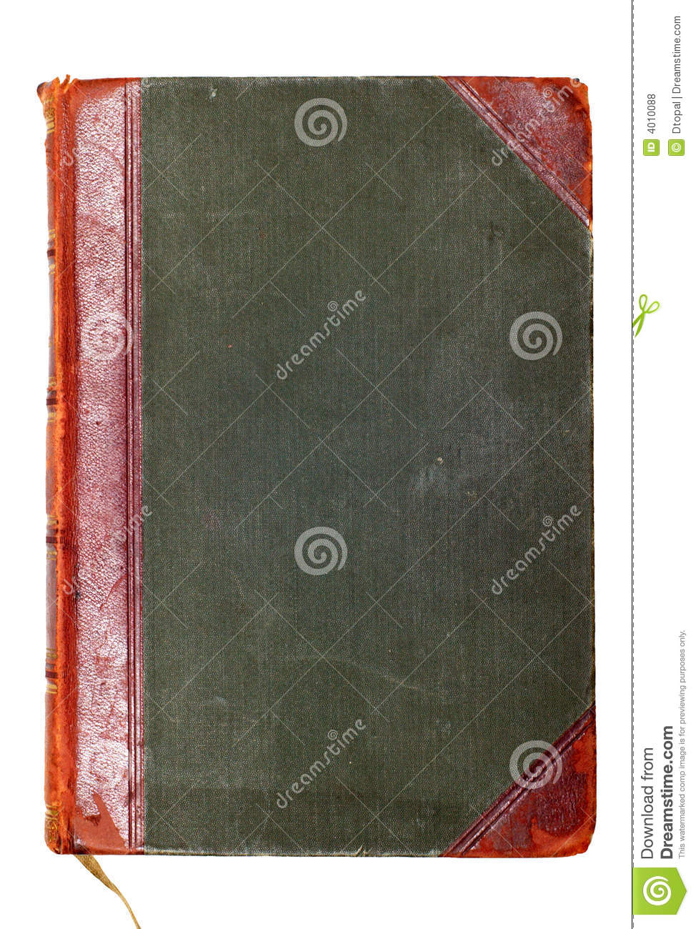 Cookbook With Green Cover : Old green book cover royalty free stock photos image