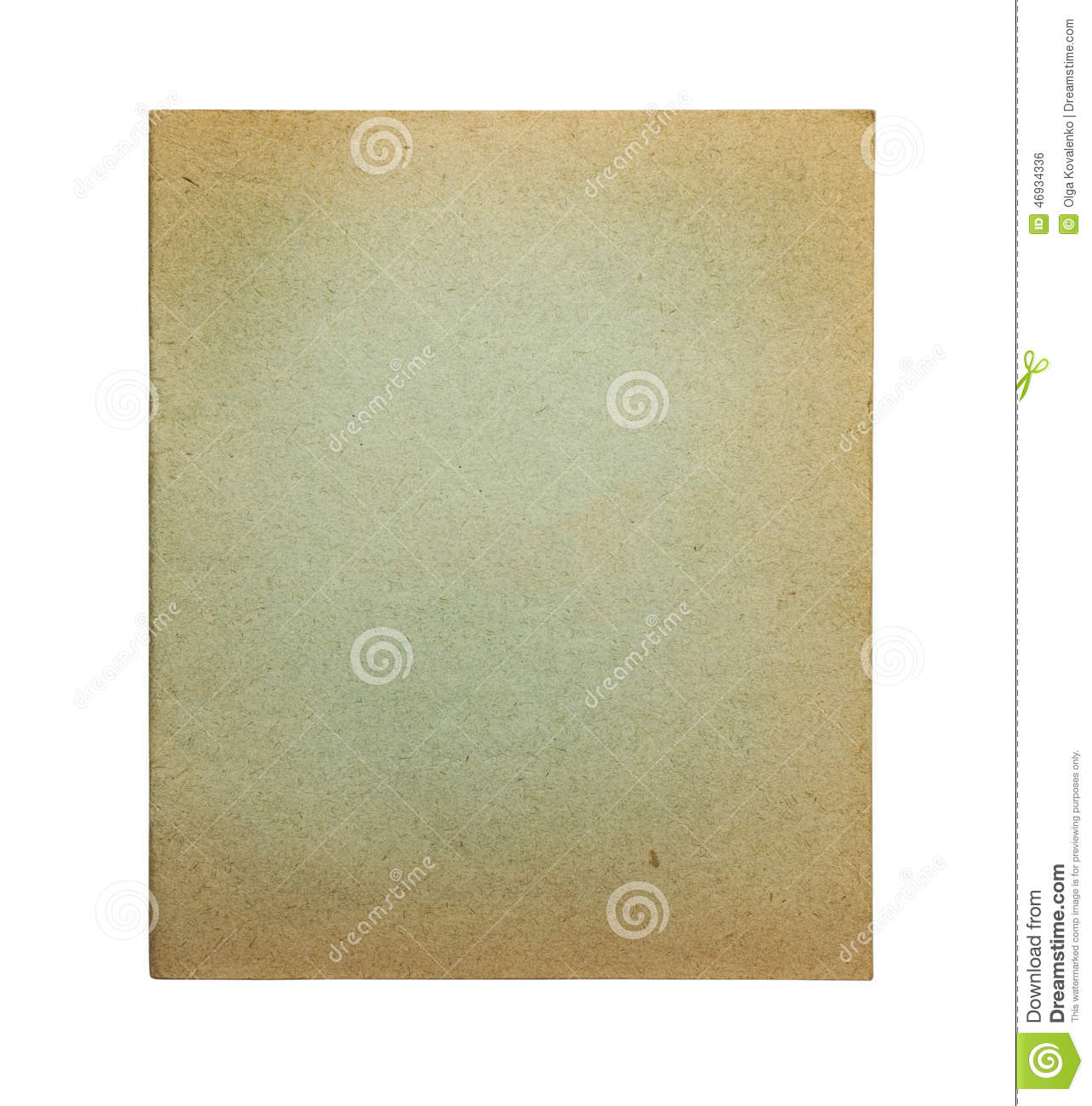 Exercise Book Cover Paper : Old green exercise book cover stock photo image