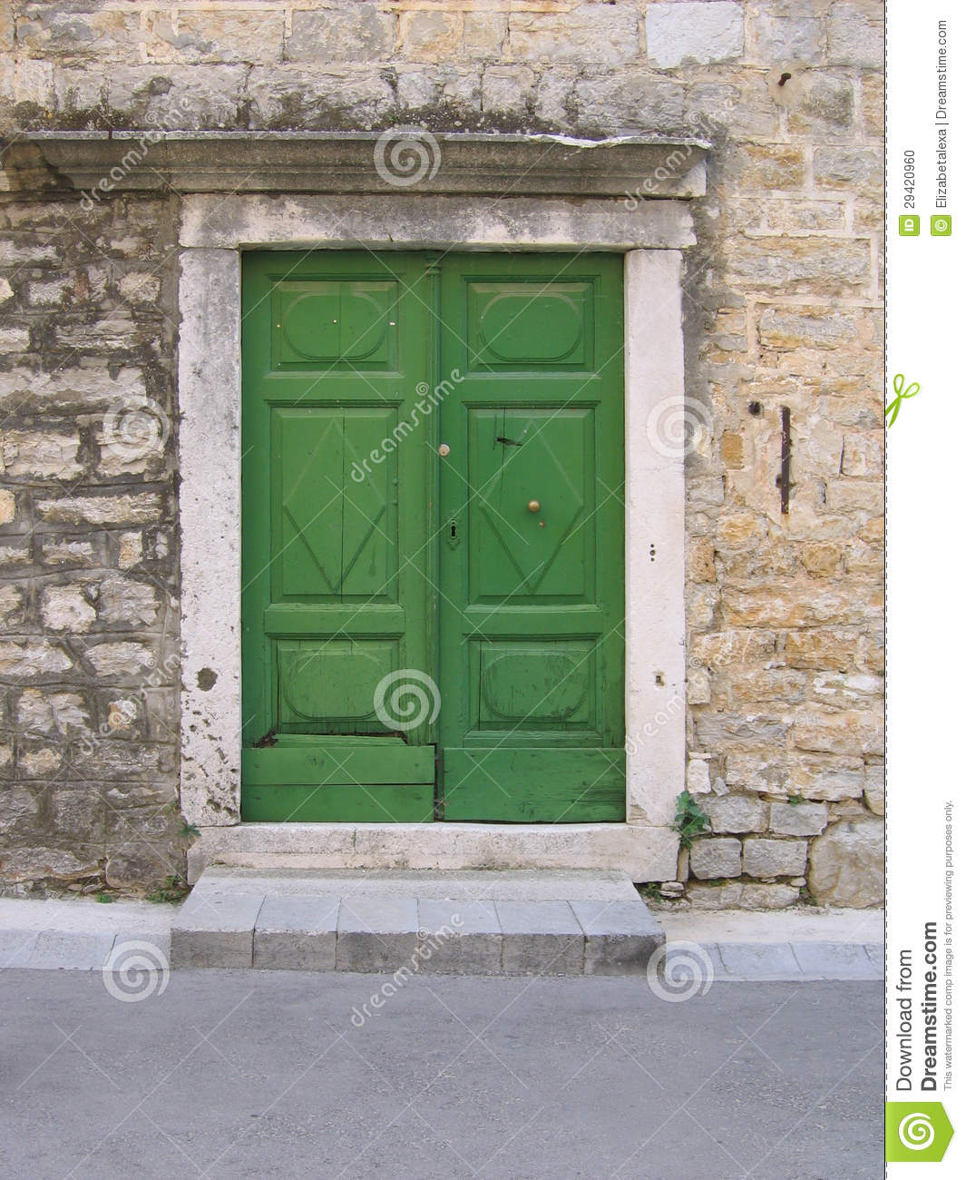1300 #81A229 Old Green Mediterranean Doors Stock Photo Image: 29420960 image Mediterranean Style Entry Doors 39631065