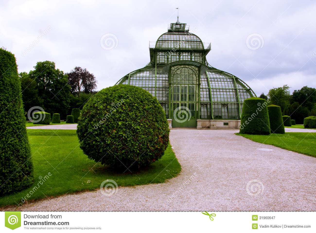 old greenhouse of glass and metal stock image image 31960647. Black Bedroom Furniture Sets. Home Design Ideas