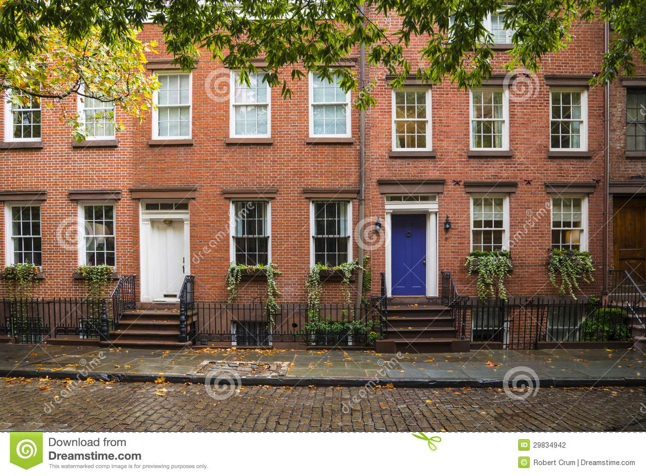 Greenwich village apartment buildings new york city stock for Appartamenti greenwich village new york