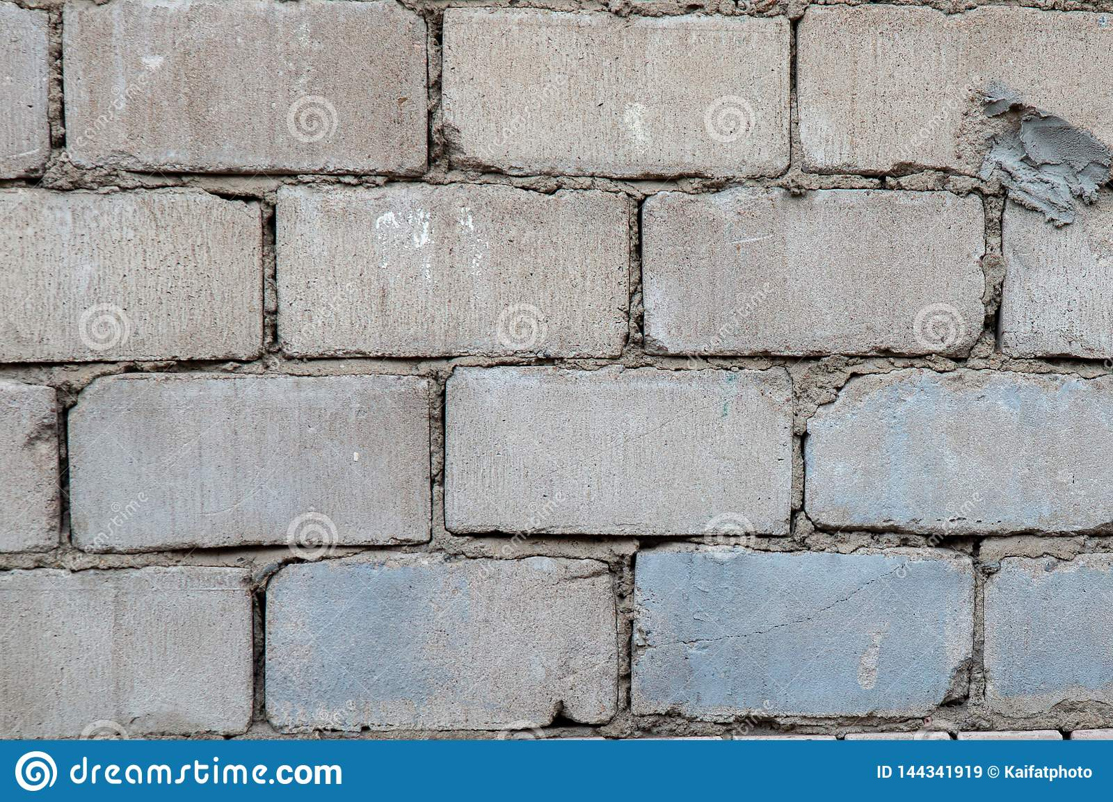 Old grey brick wall