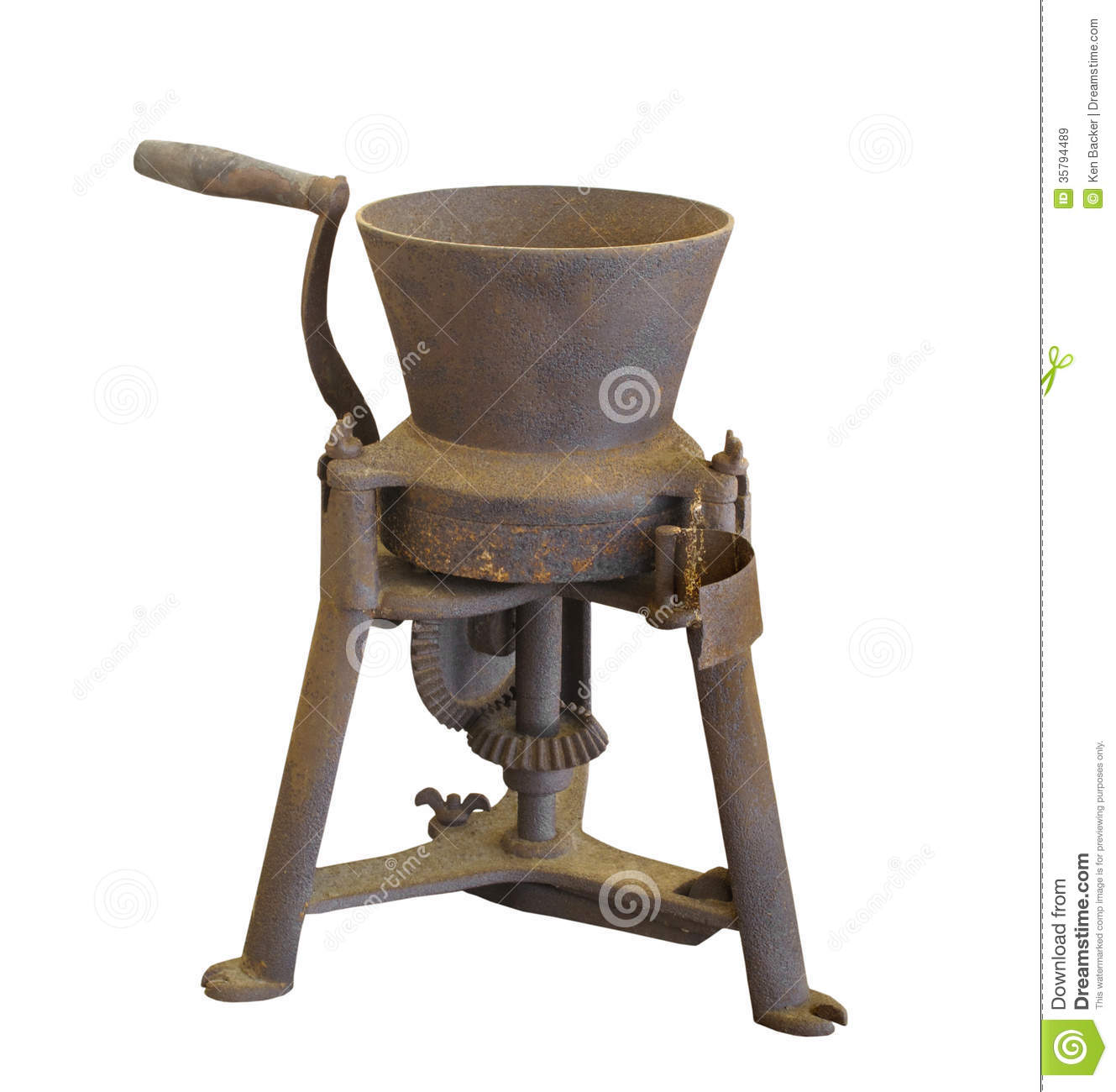 Hand Grinders For Metal ~ Old grinding mill isolated royalty free stock images