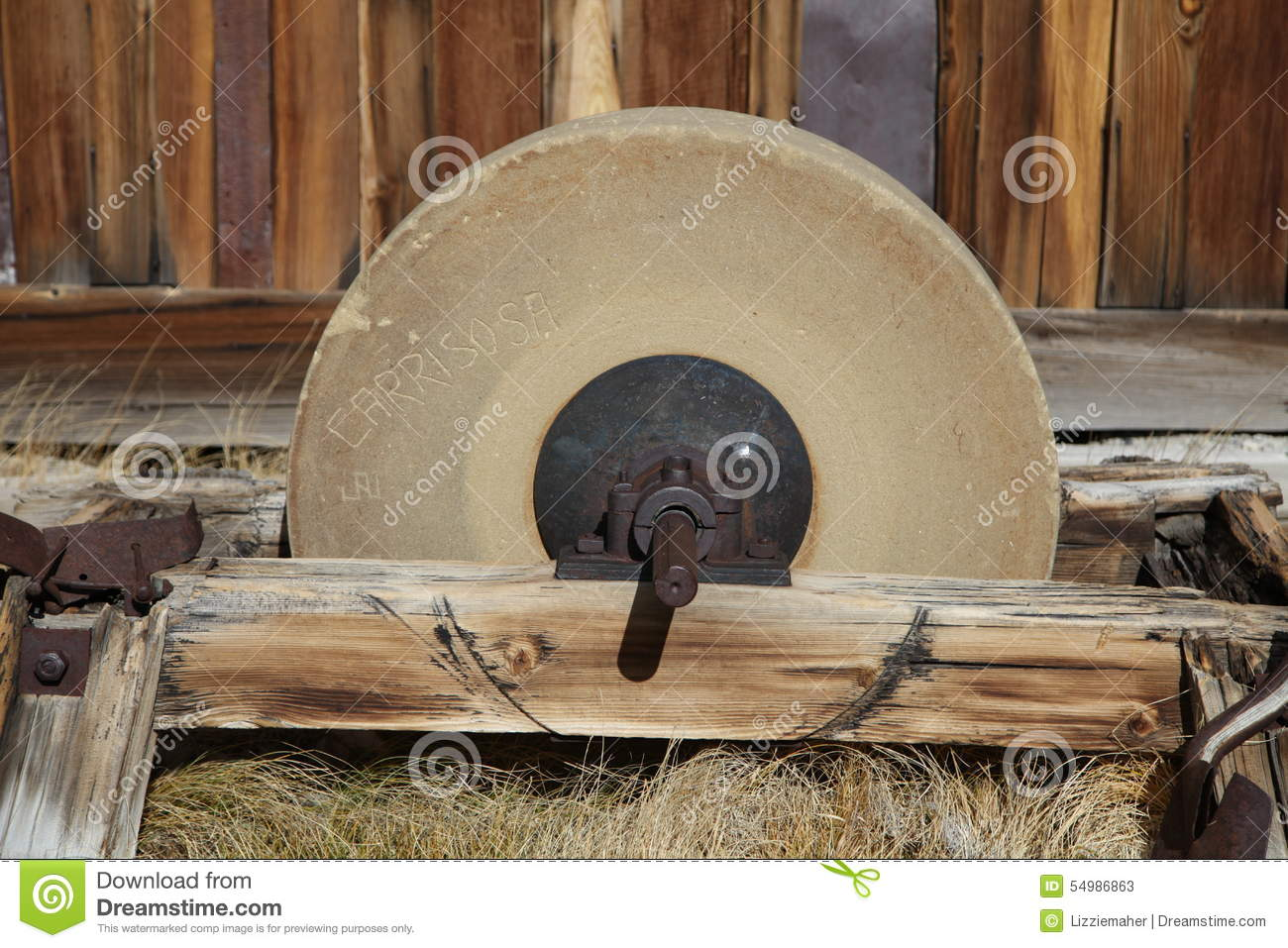 Old Grinding Wheel Stock Image Image Of Farm Industry