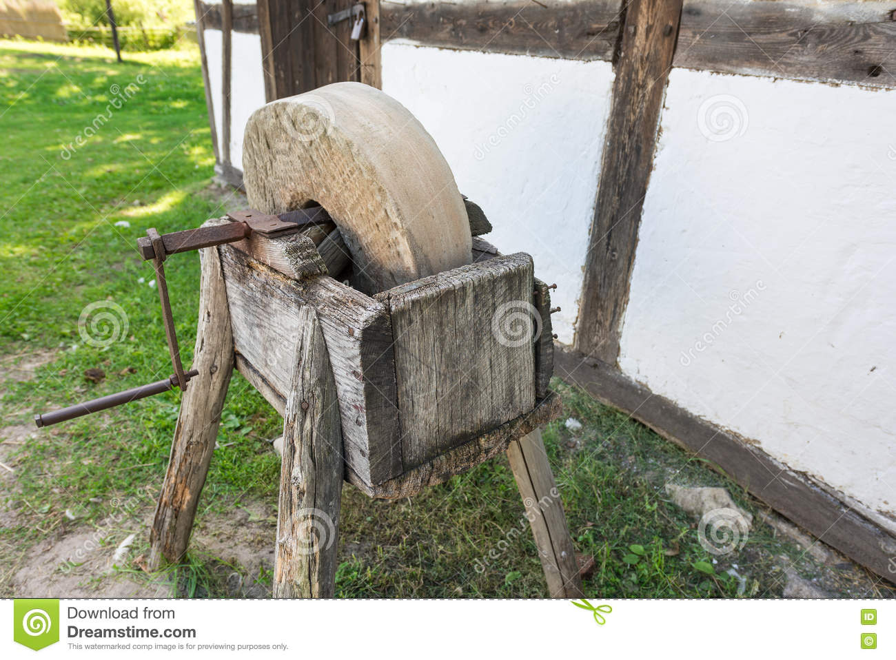 The Old Grindstone Stock Photo Image Of Grinder Flour