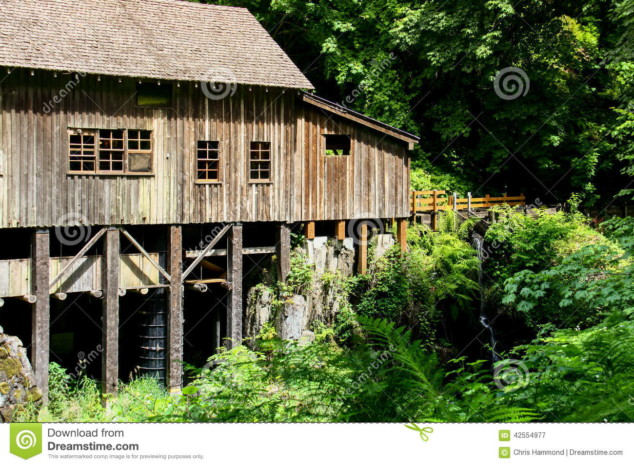 Old Grist Mill 3 stock image  Image of windows, water - 42554977