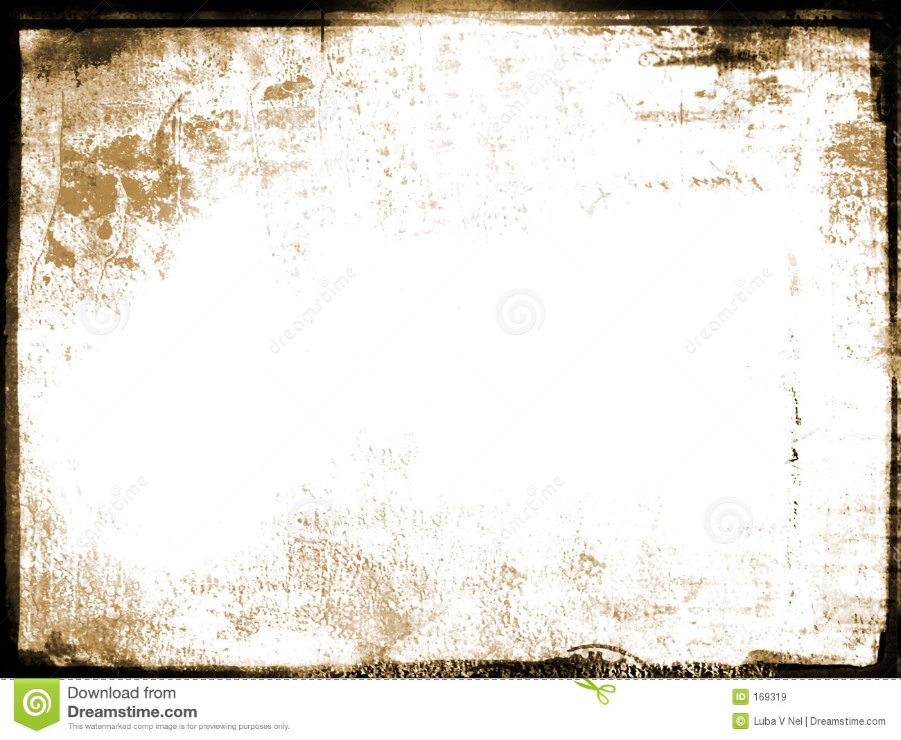 old grunge aged photo border