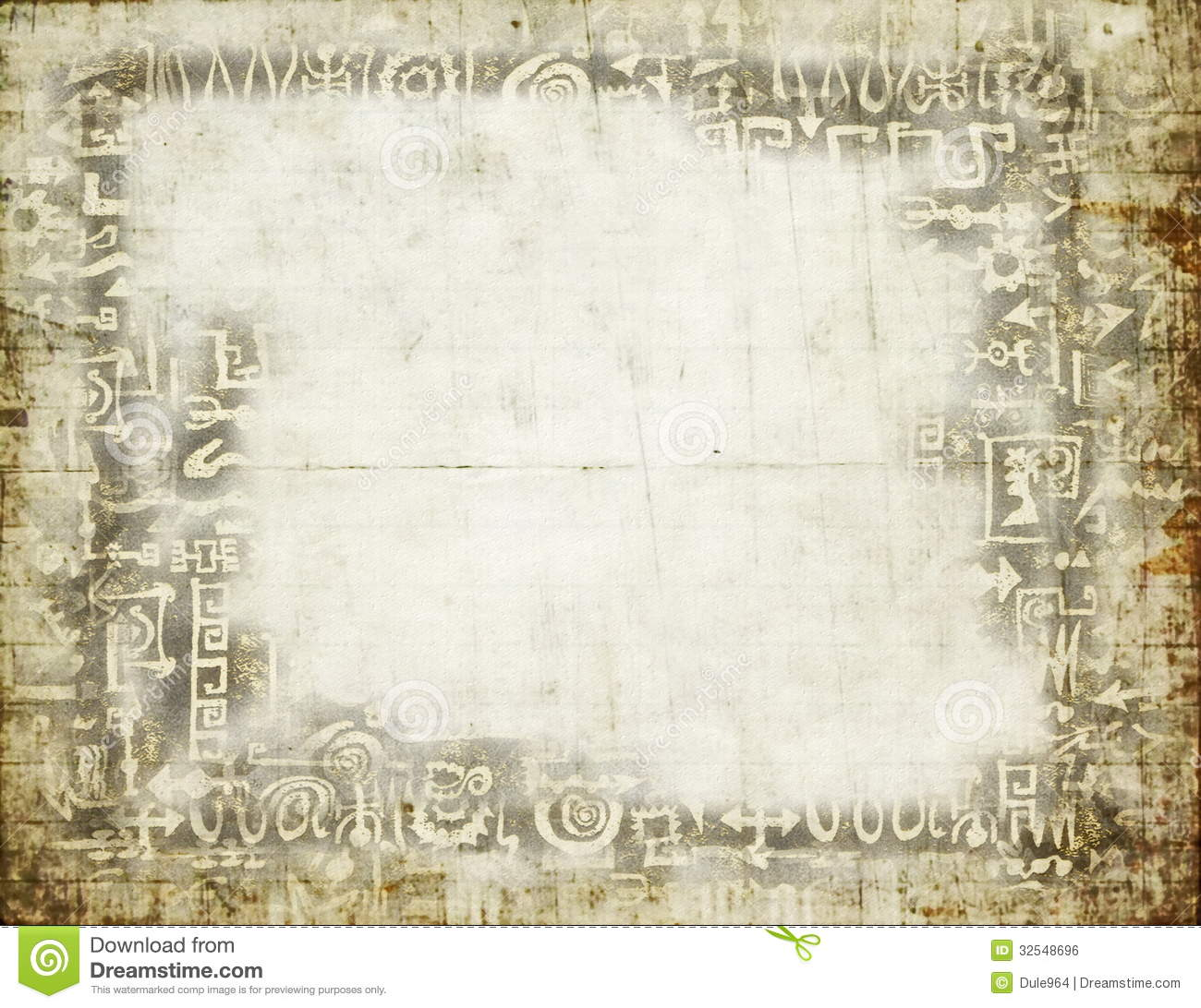 Old Grunge Blank Paper Background Stock Illustration