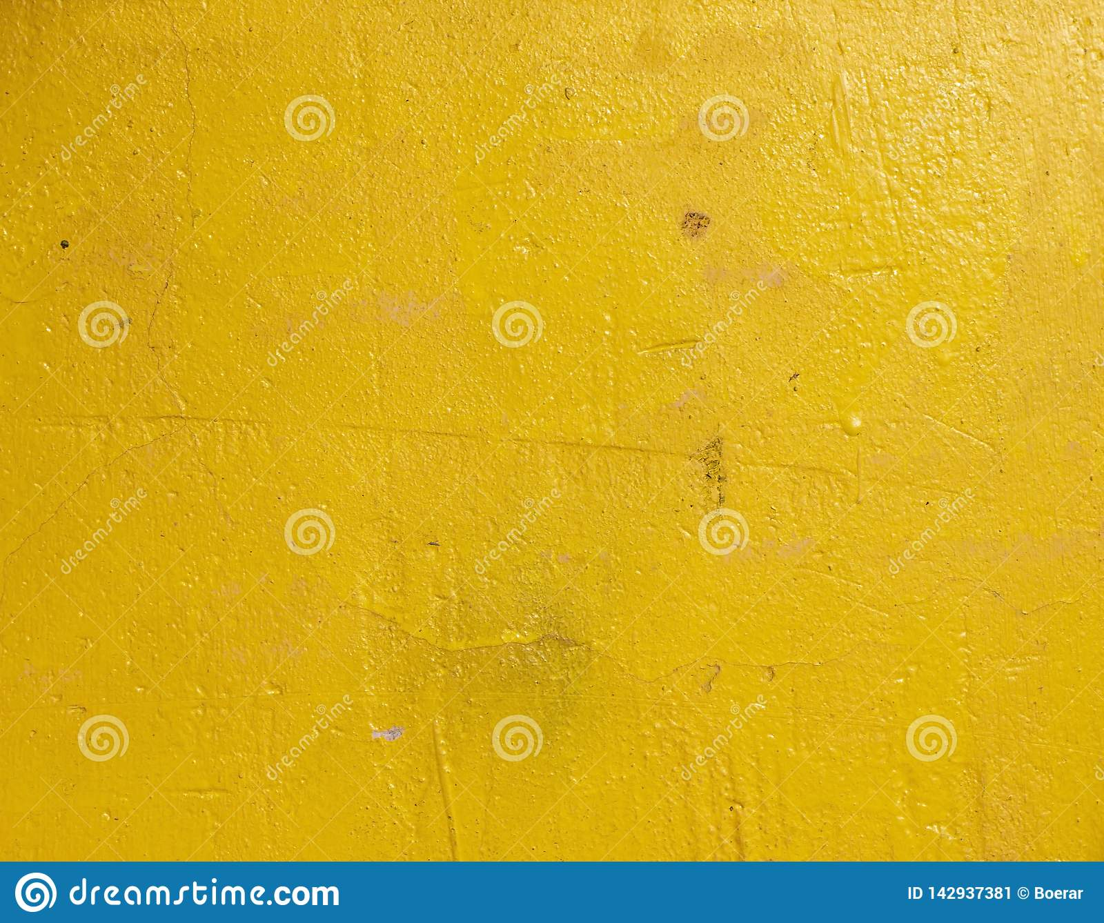 Old grunge cracked vintage light yellow concrete and cement mold texture wall or floor background
