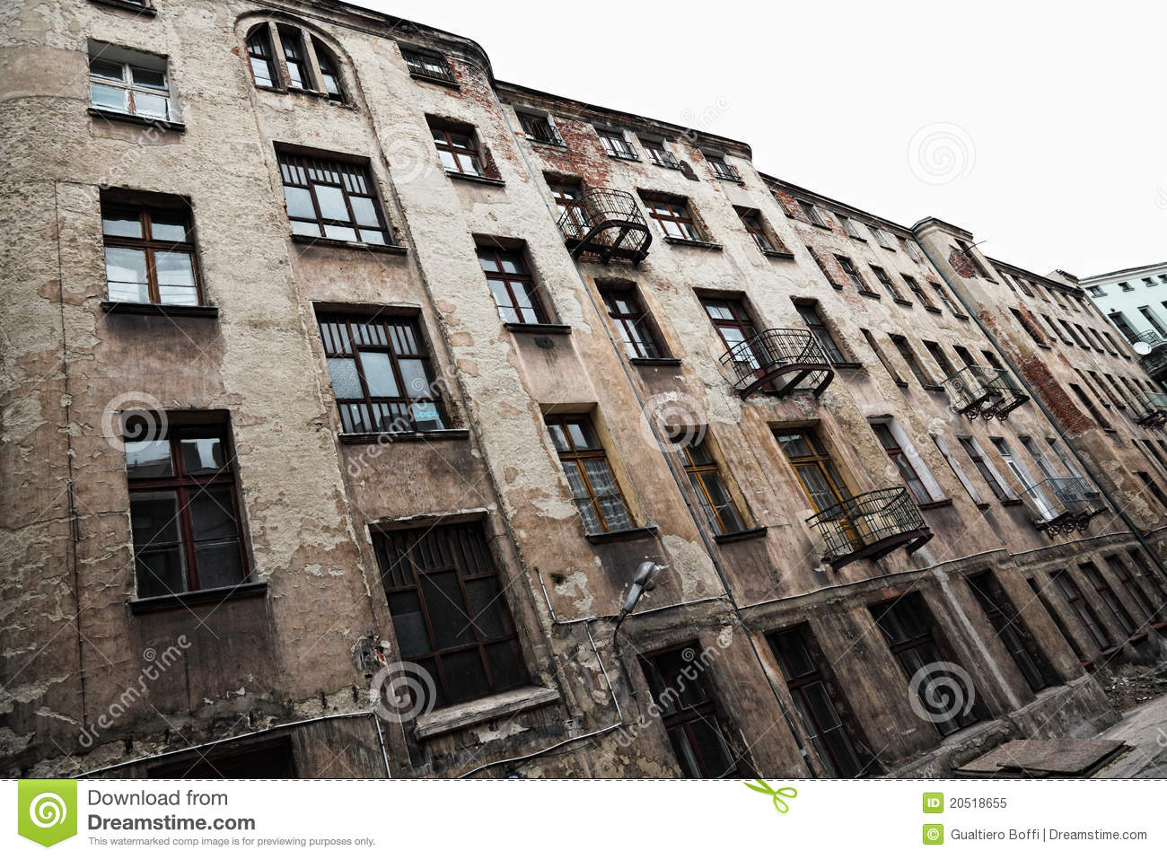 Old Grunge House In Lodz Centre Town Royalty Free Stock Photo Image 20518655