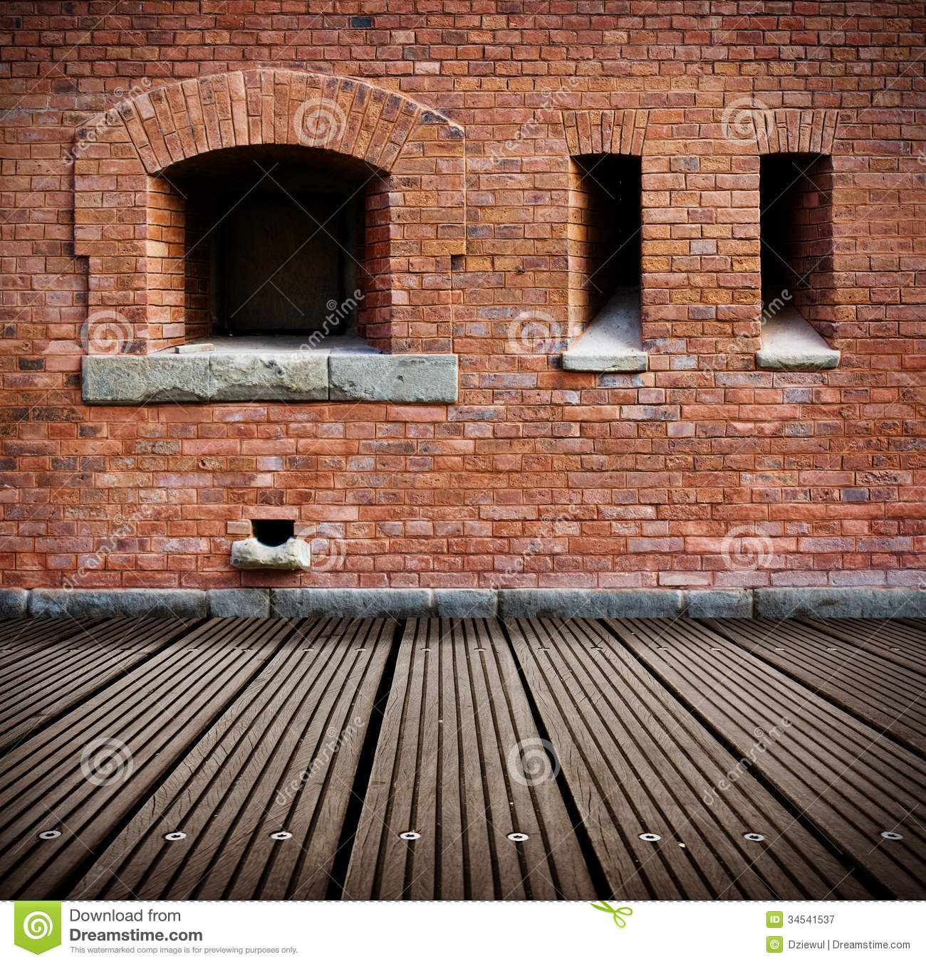 Old Grunge Interior With Brick Wall Stock Images - Image: 28945814