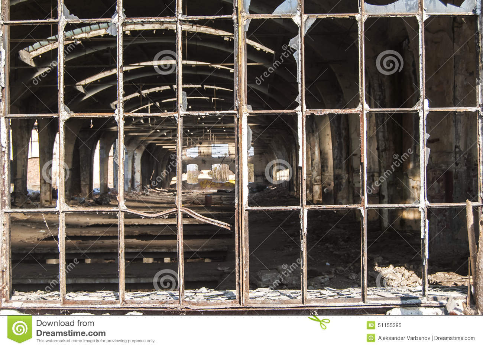 Old Grunge Metal Window Frame Stock Image - Image of pane, window ...
