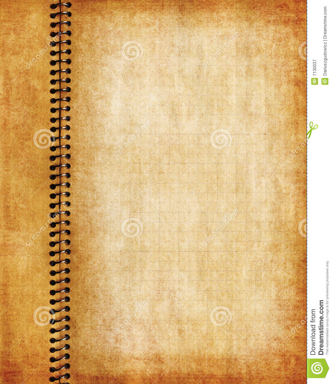 Page: Old Grunge Notebook Page Stock Illustration. Illustration