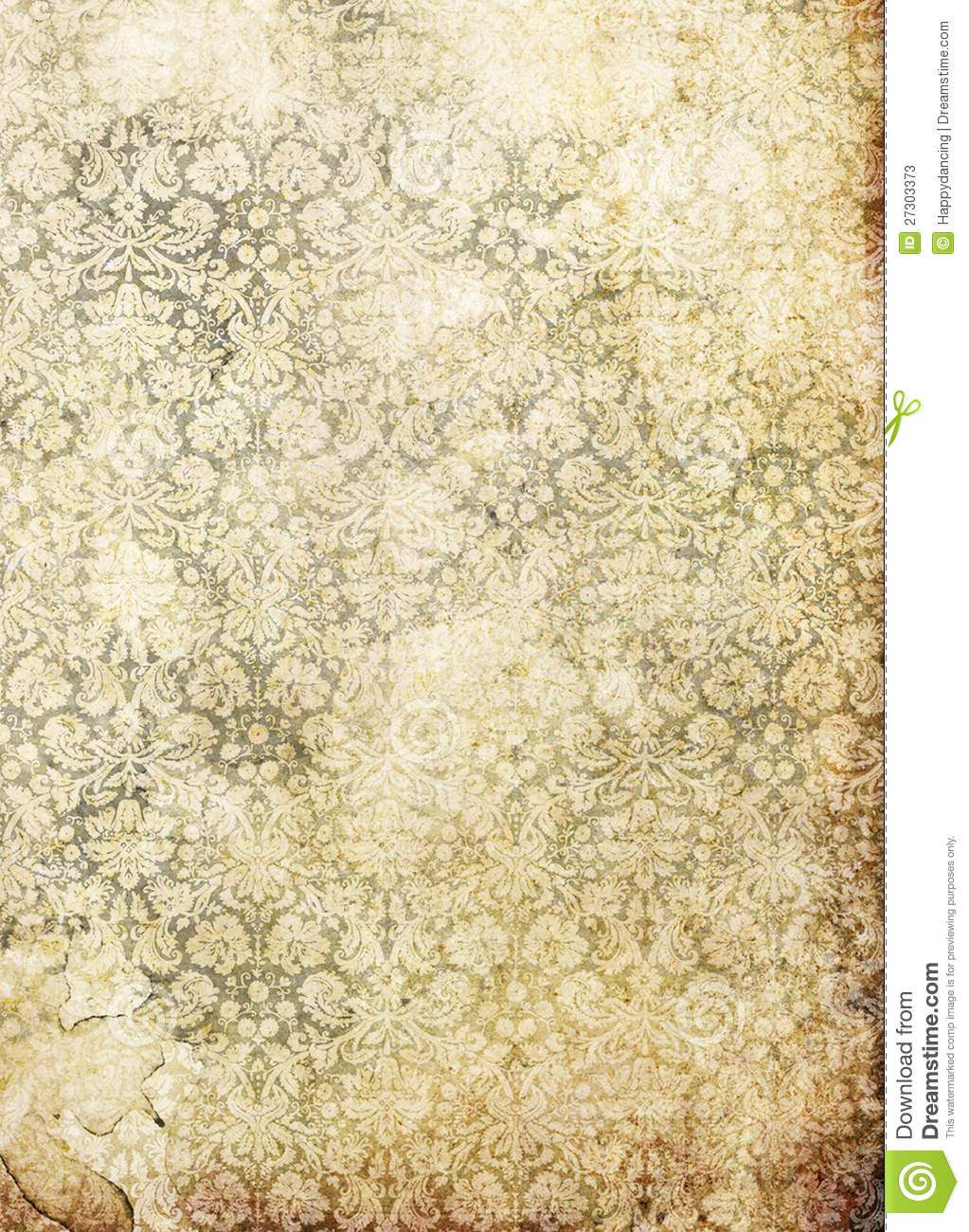 old grunge paper with victorian style stock photos