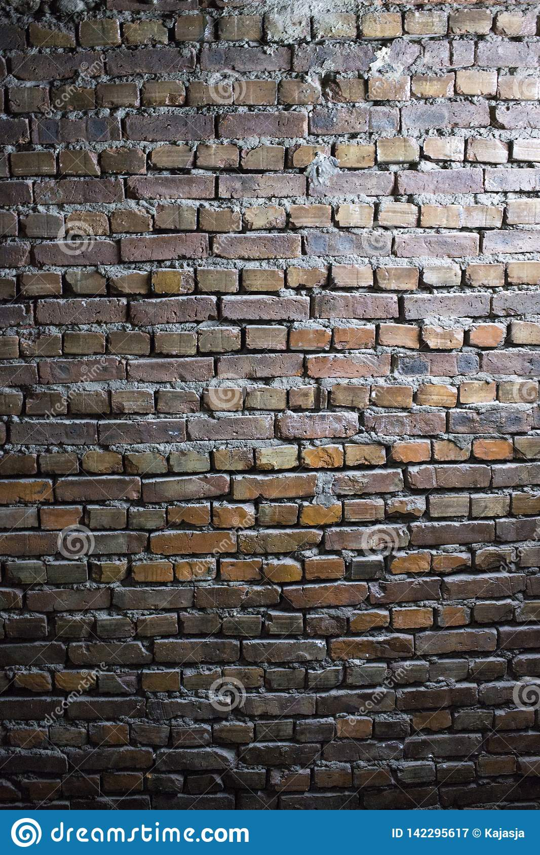 Old grunge red brick wall background texture