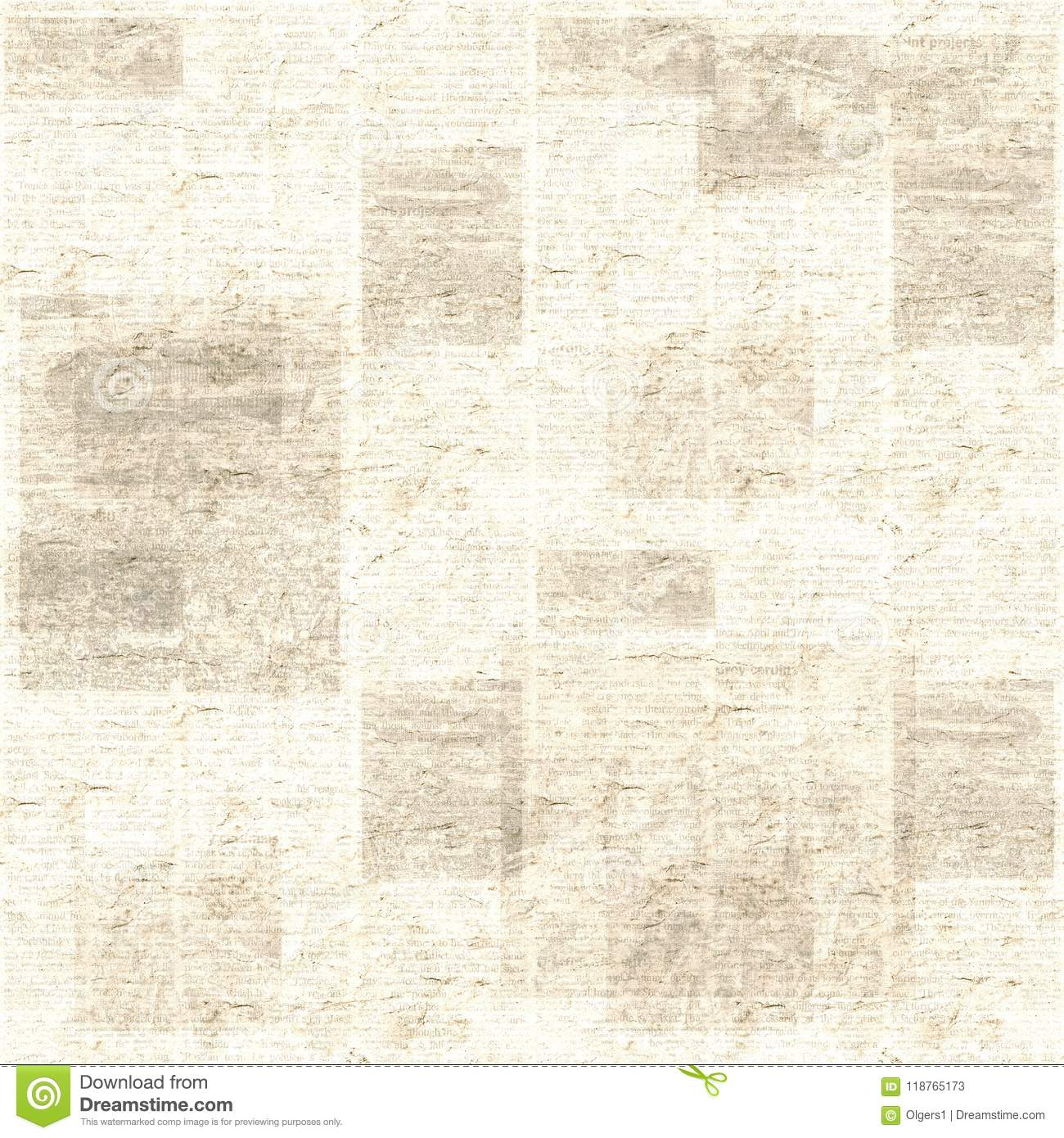 newspaper texture seamless pattern stock image - image of color
