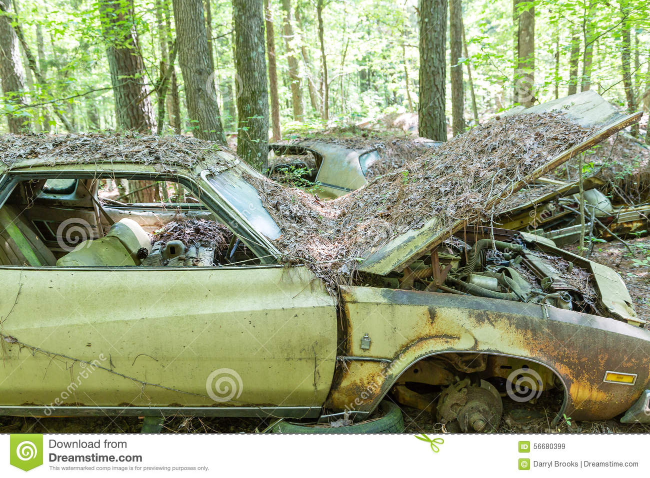 Old Grungy Buick With Hood Open Editorial Stock Image