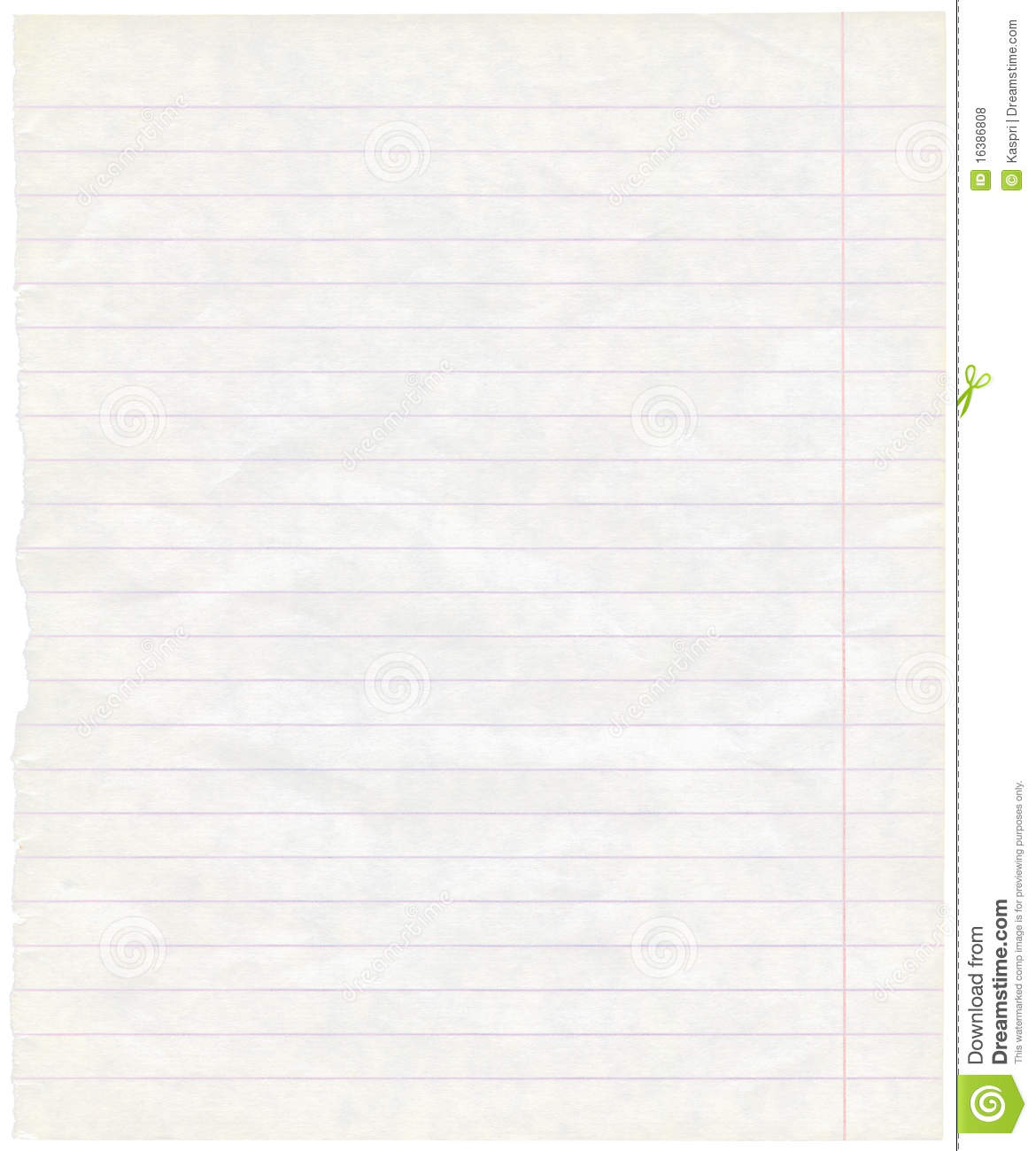 Old Grungy Lined Exercise Note Paper Texture Stock Photo ...