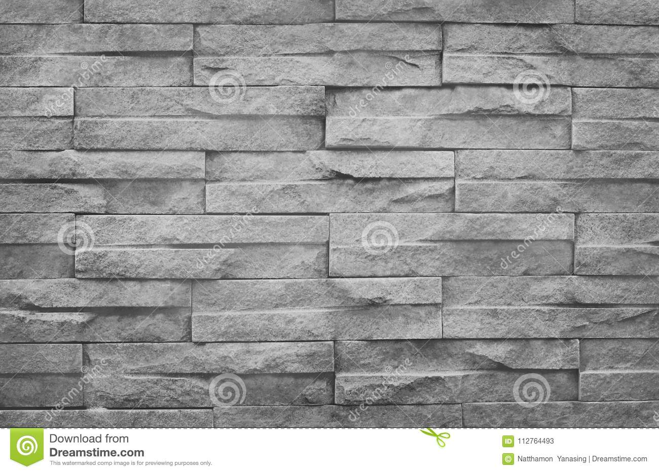 Old grungy texture, grey brick wall with vintage style pattern