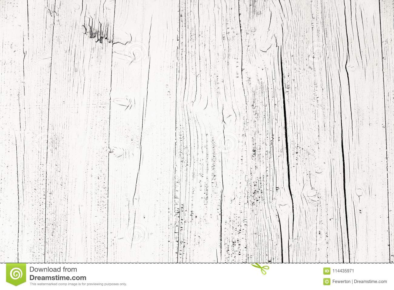 Old grungy and weathered white grey painted wooden wall plank texture background marked by long exposure to the elements