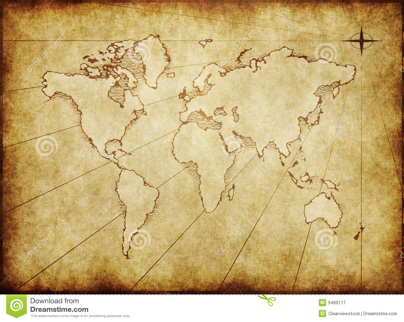 Old grungy world map on paper stock image image of vintage old grungy world map on paper gumiabroncs Gallery