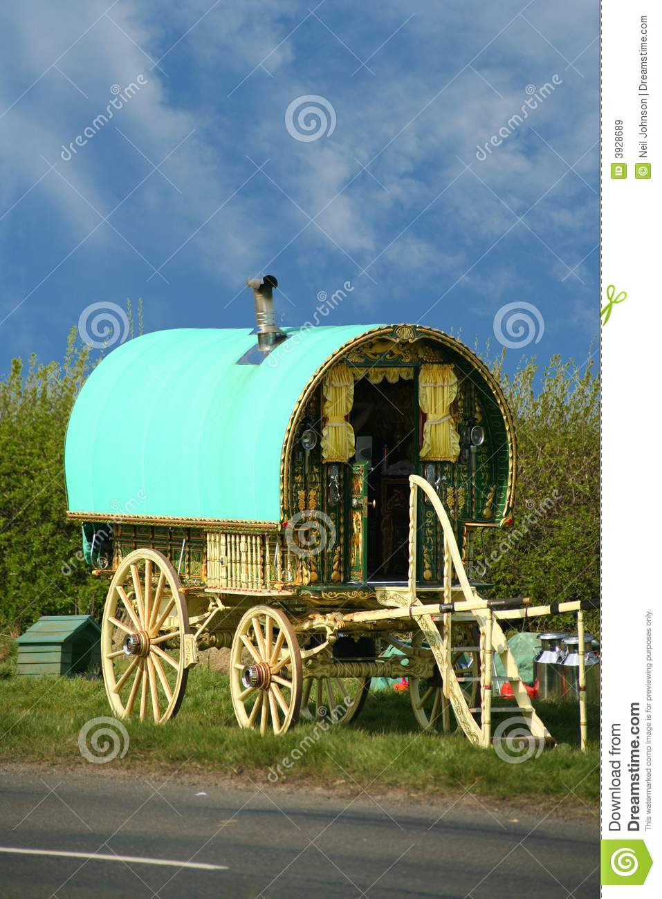 Old Gypsy Caravan Royalty Free Stock Images Image 3928689