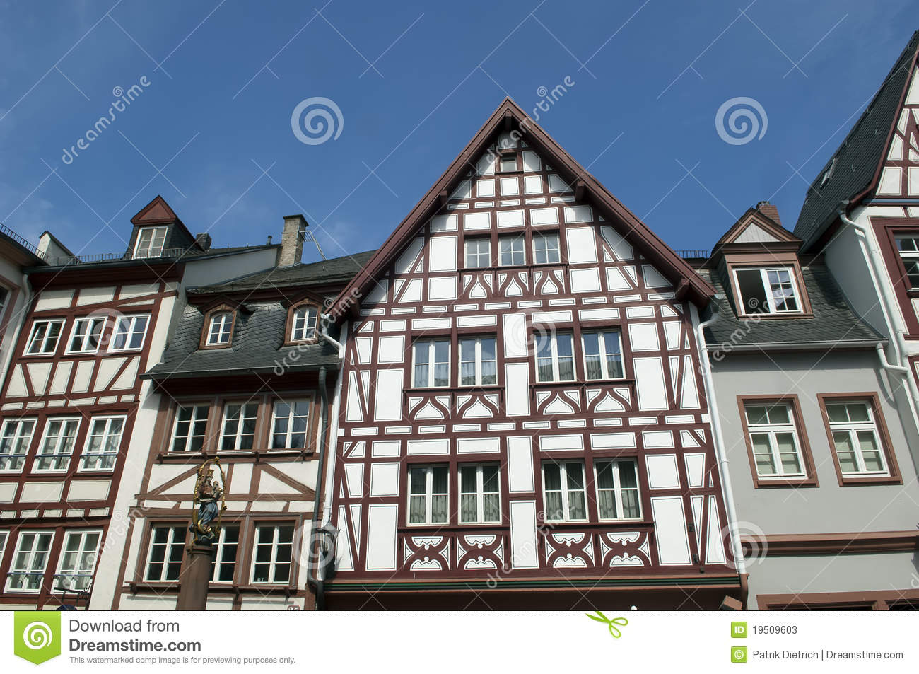 Old half timber house in germany stock photos image for Half timbered house plans