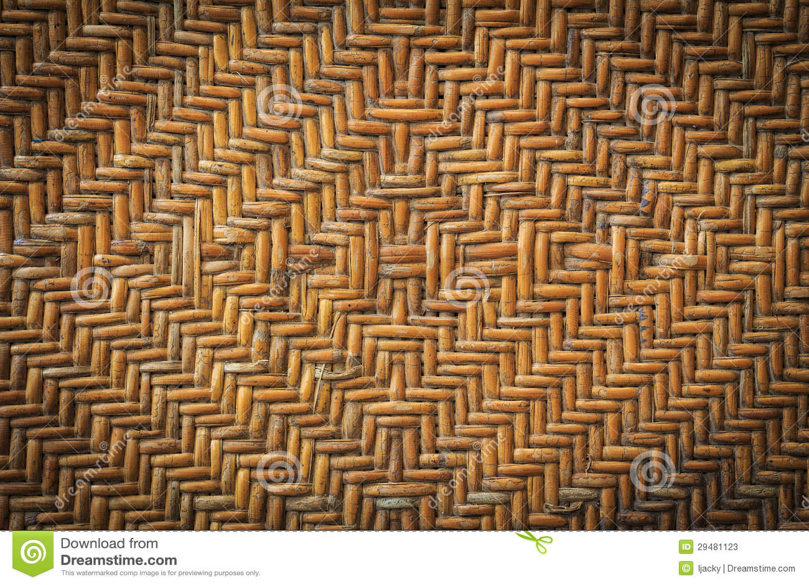 old handcraft rattan weave stock photos