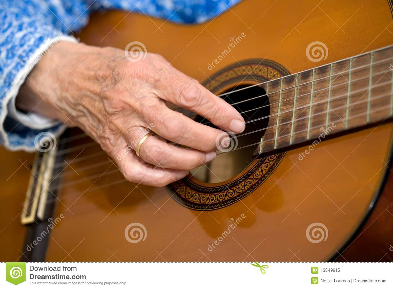 Old Hands On Guitar Stock Image Image Of Chord Copy 13849915