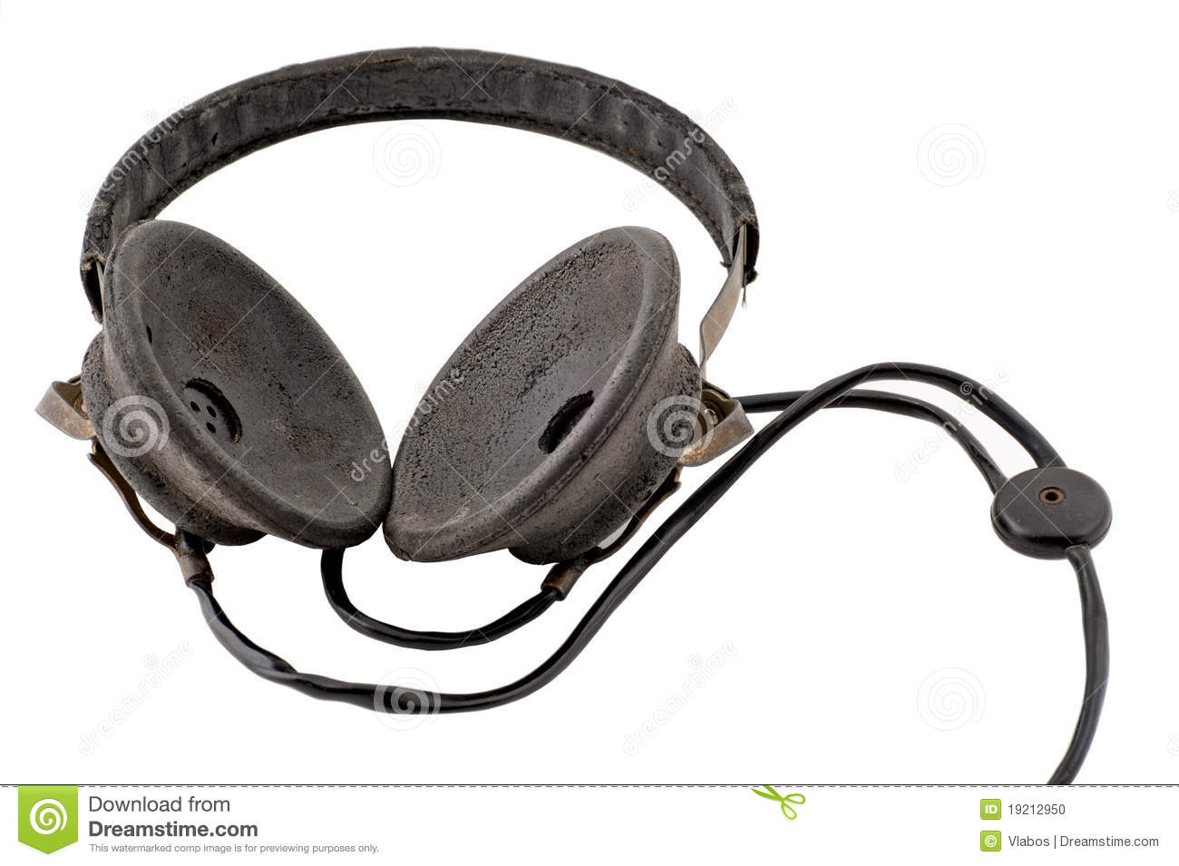 Old Headphones Stock Photo - Image: 19212950