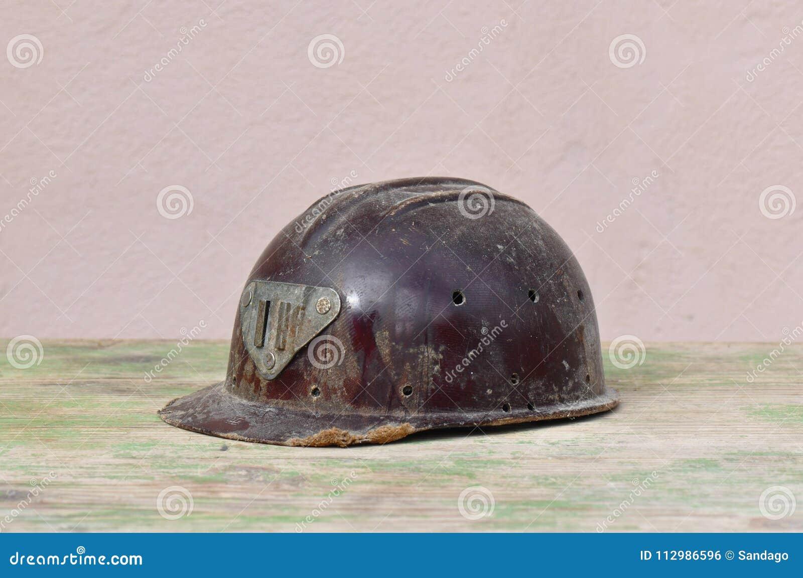 Old helmet of miner