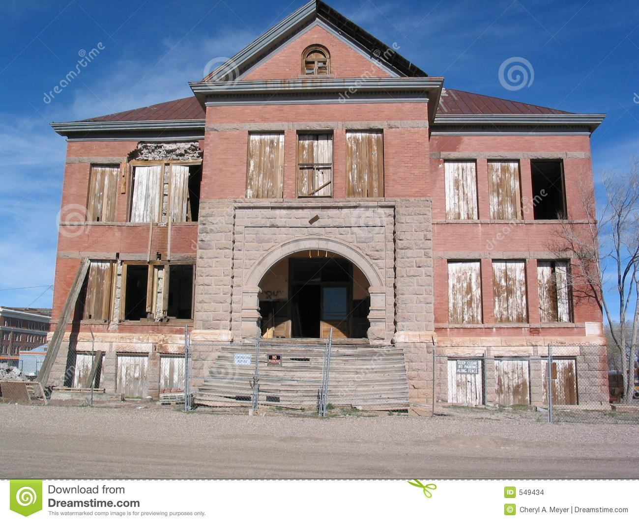 Old High School Building Stock Images Image 549434
