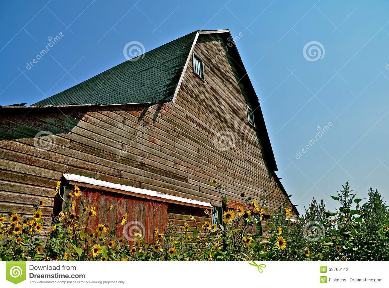 Old Hip Roof Barn Stock Photography Image 38766142