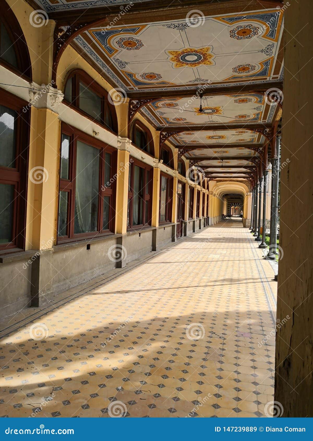 Old historic baroque abandoned building -  Baile Herculane CAsino