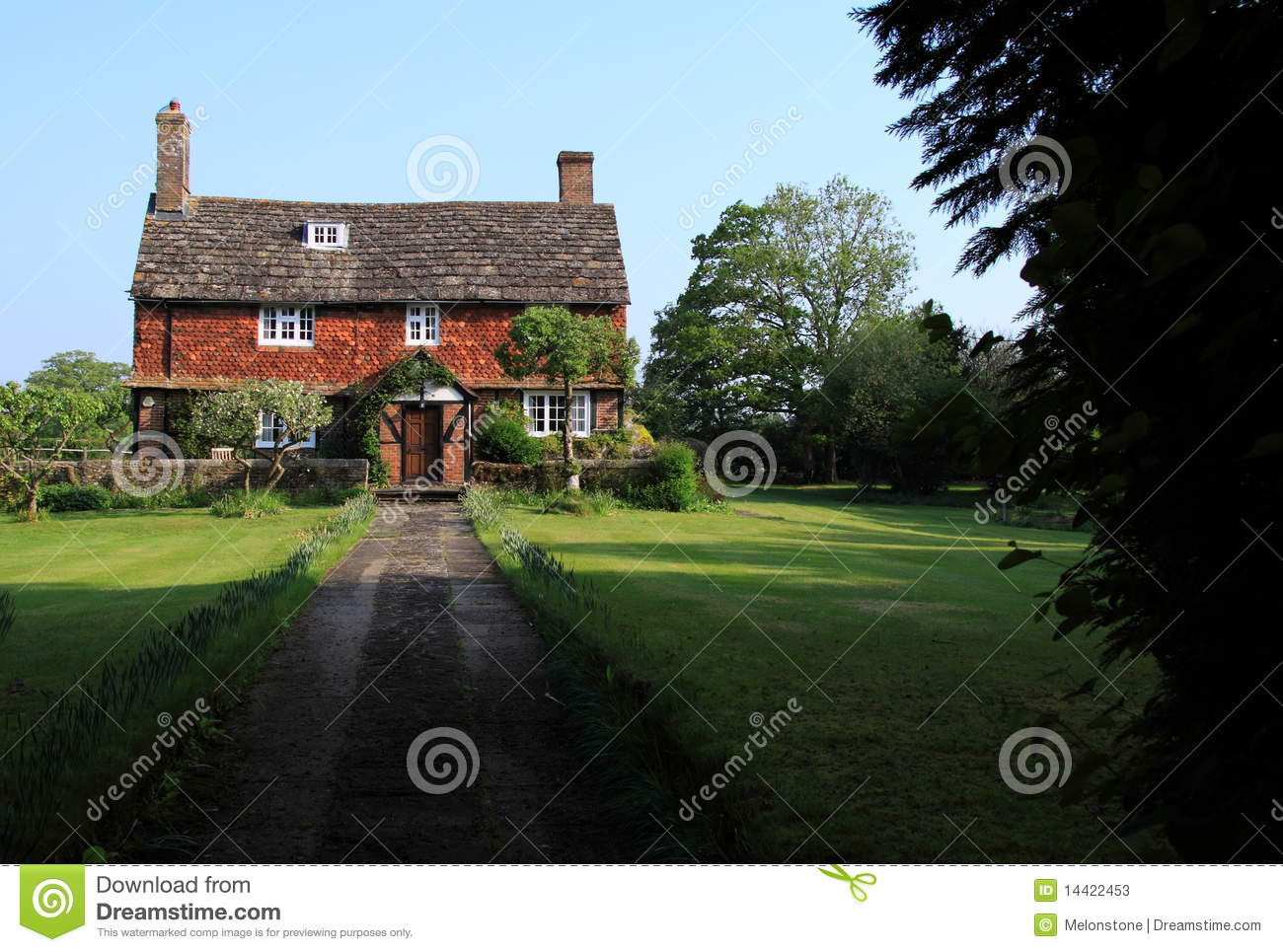 Old Historic English Farmhouse Stock s Image