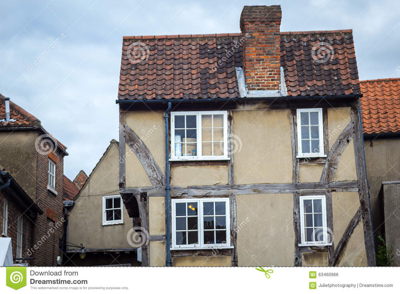 Old, Historical Houses In York, England, UK Editorial Photo