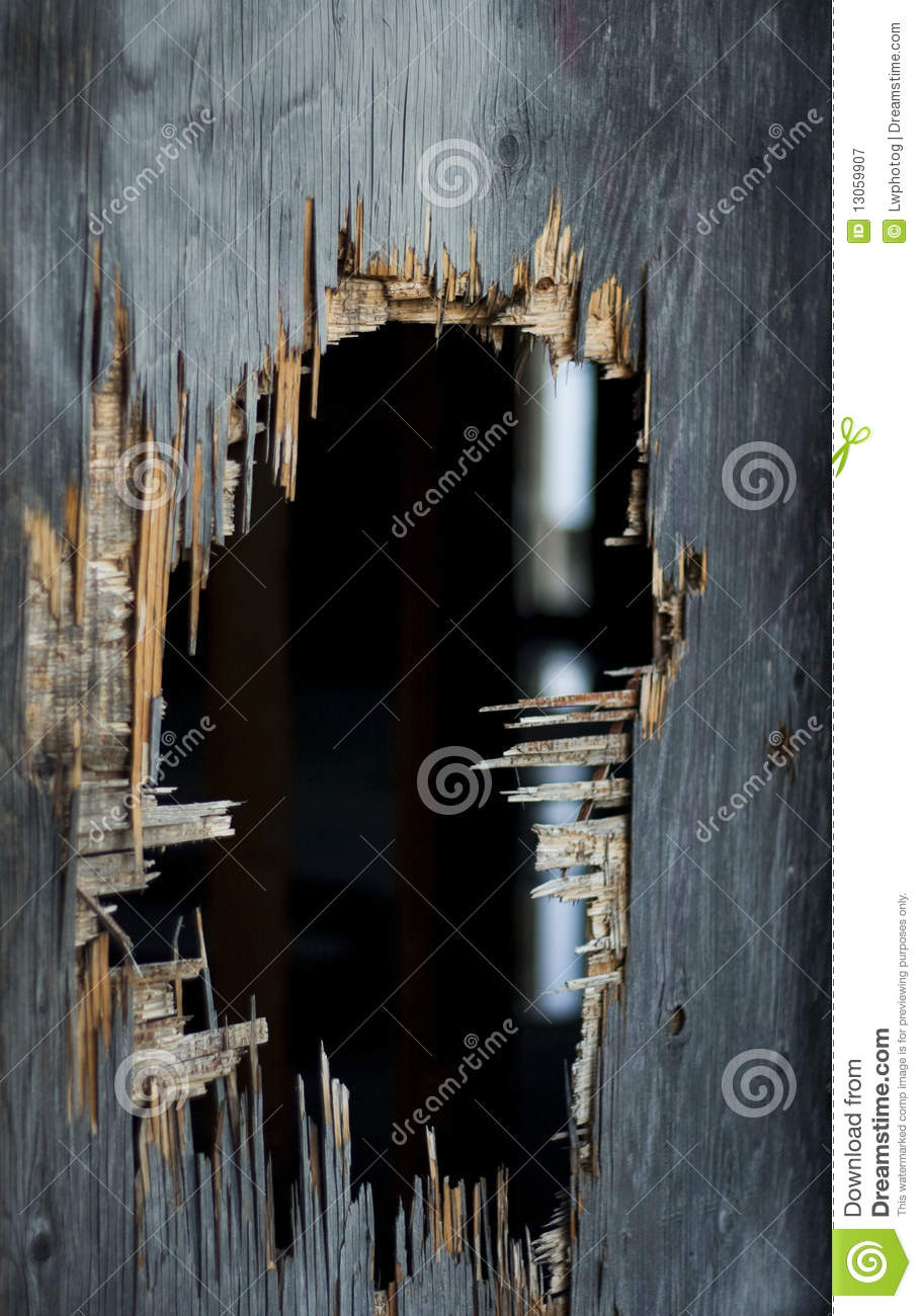 Old Hole In Wall Royalty Free Stock Photography Image