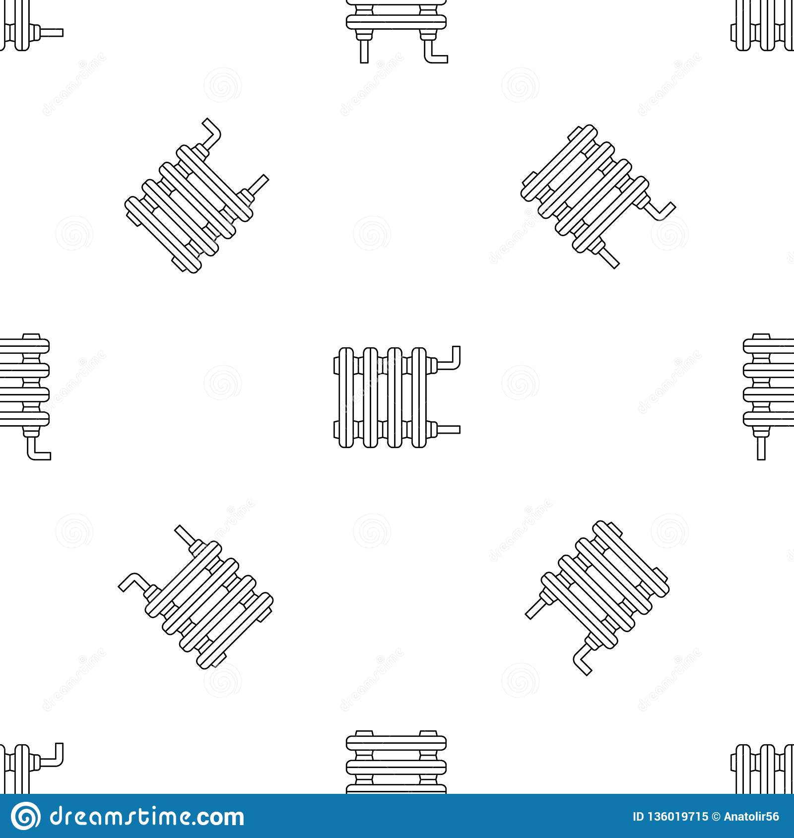 Old Home Radiator Icon Outline Style Stock Vector Illustration Of Cold Equipment 136019715