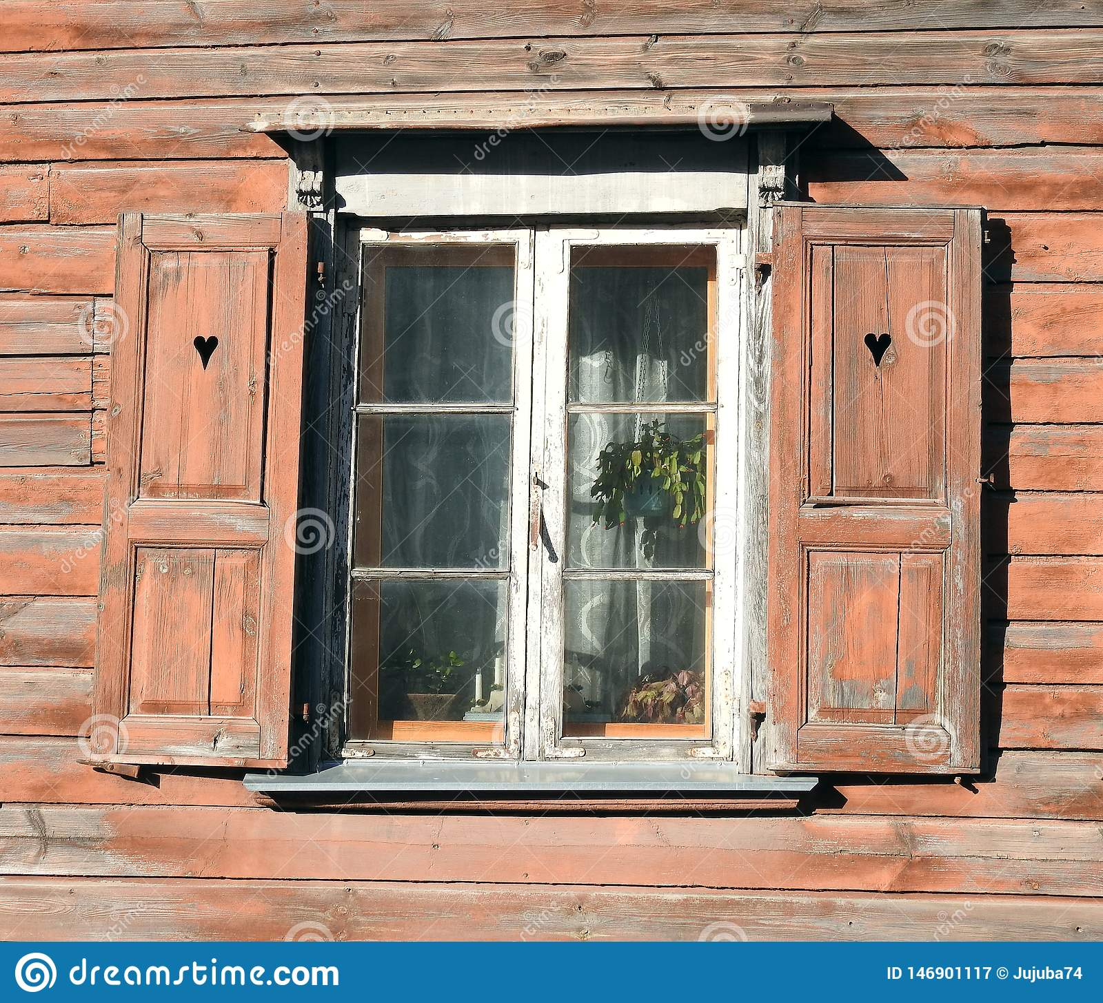 Old home wall and window, Latvia