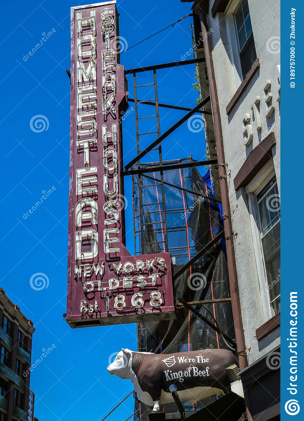 The Old Homestead Steakhouse In Meatpacking District In Manhattan Editorial Image Image Of Fancy Grill 189757000