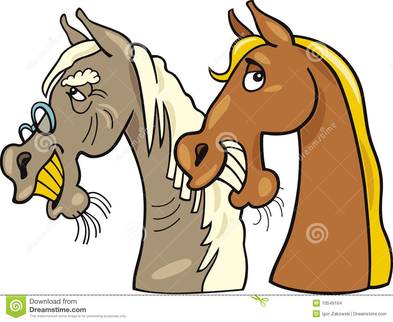 Old Horse And Young One Stock Vector Illustration Of Cheerful 10549164