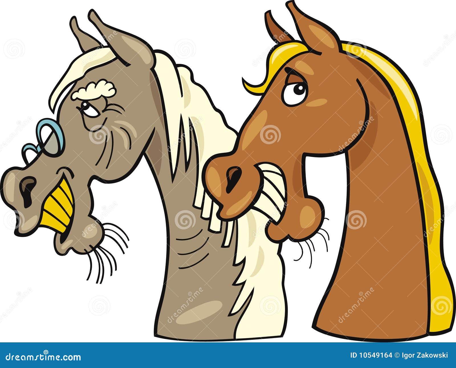 Старый и молодой кони 2 фотография
