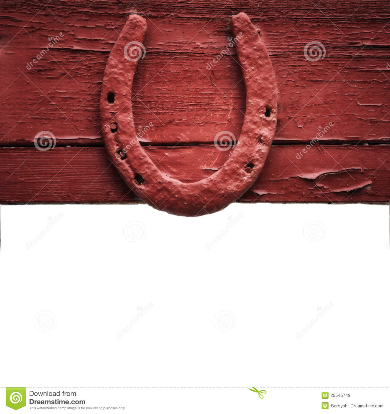 The Old Horseshoe Hanging On Wooden Wall Royalty Free