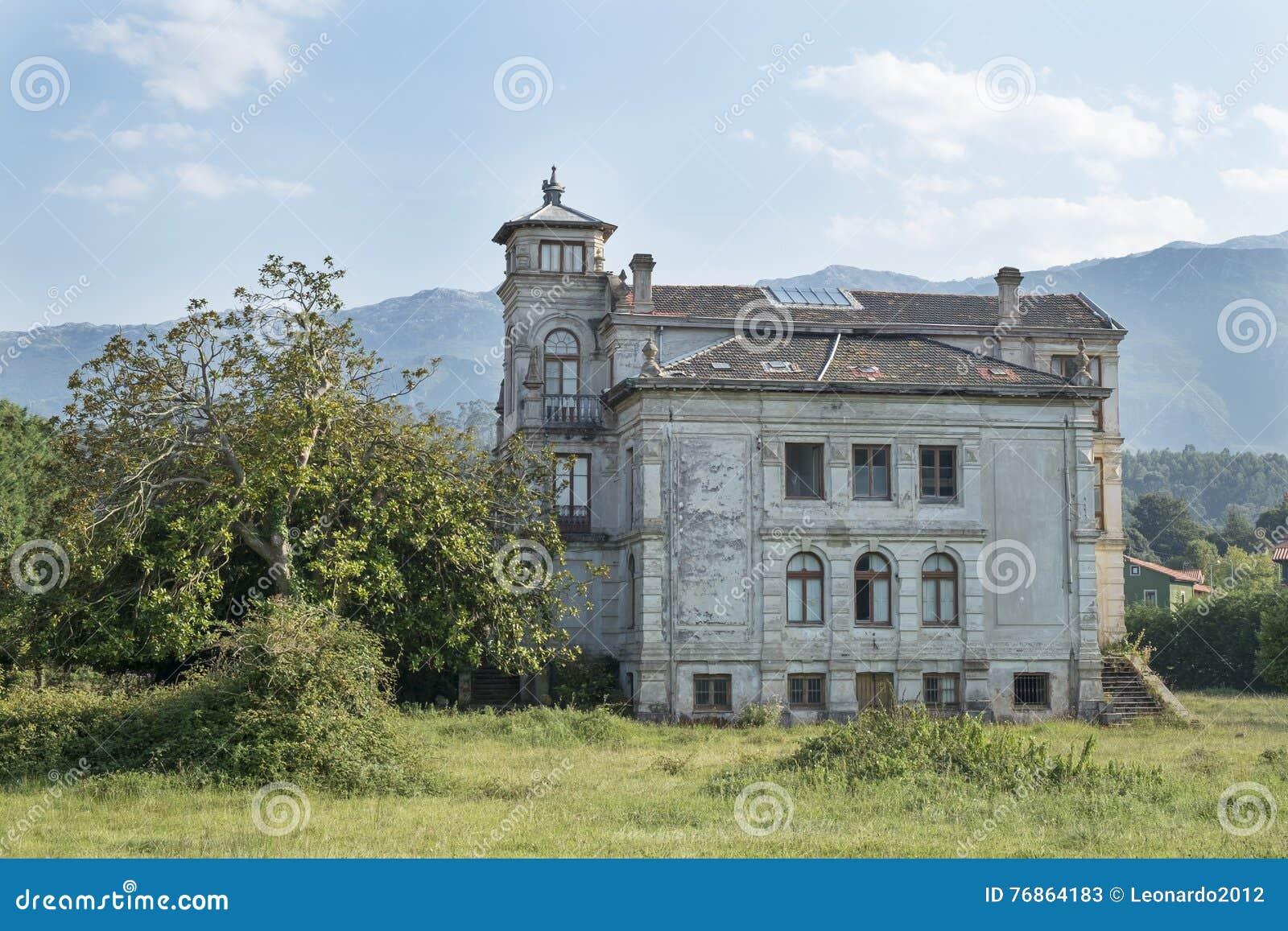 Old house in Asturias, Spain.