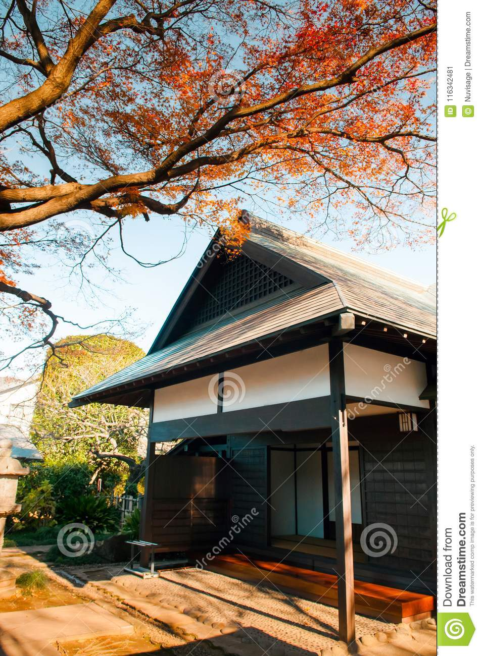 DEC 10 2012 Omiya Saitama JAPAN - Beautiful old Japanese house in Bonsai village called - Bonsai House of the Four Seasons - Tourist rest house with ... & Old House In Bonsai Village Omiya Saitama Japan Editorial Photo ...