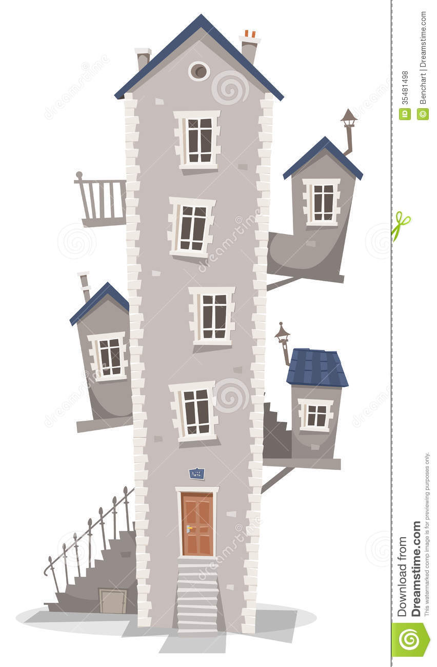 Old house building stock vector image of mason domicile for Free home builder
