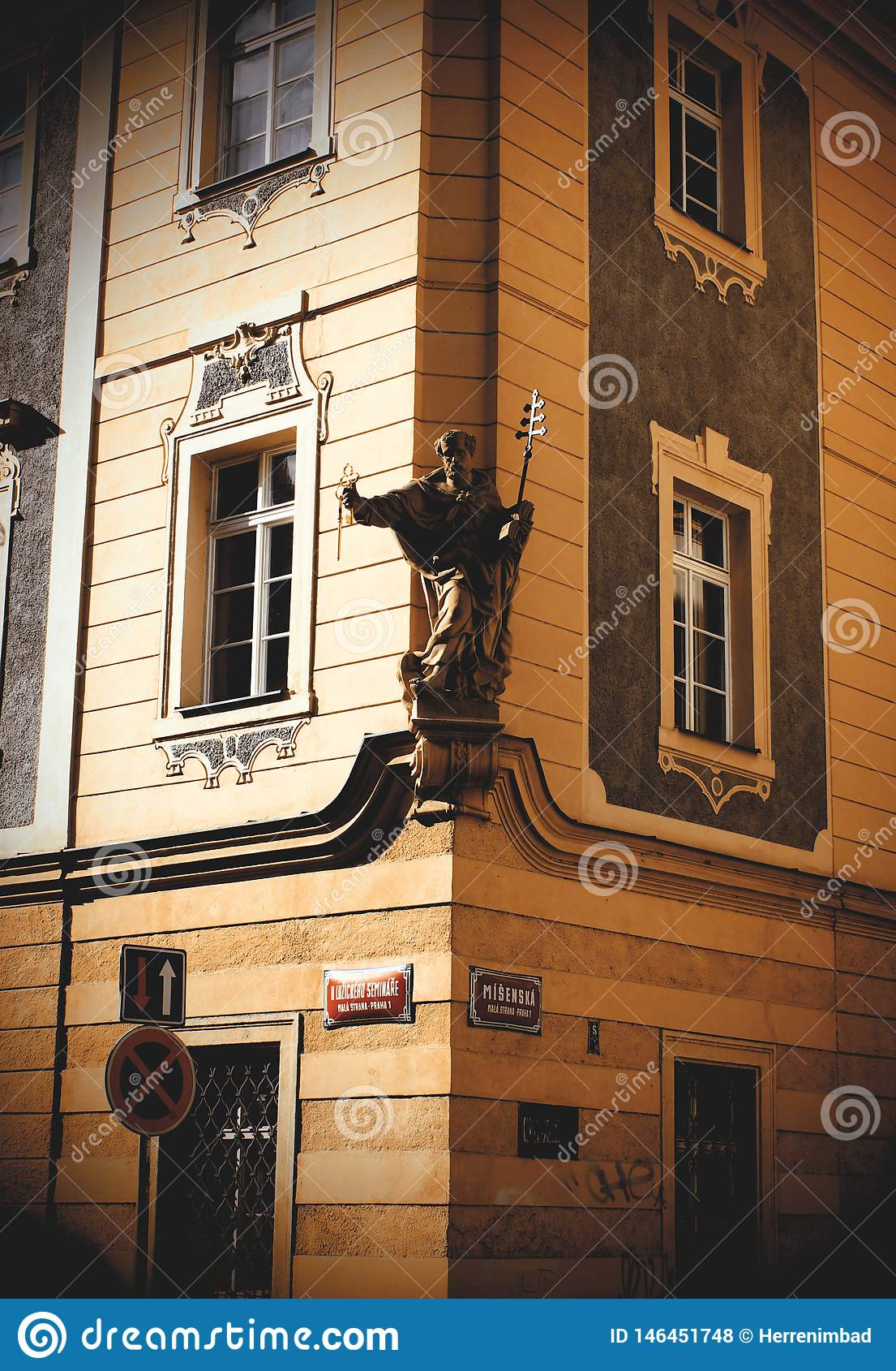Old house corner in Prague