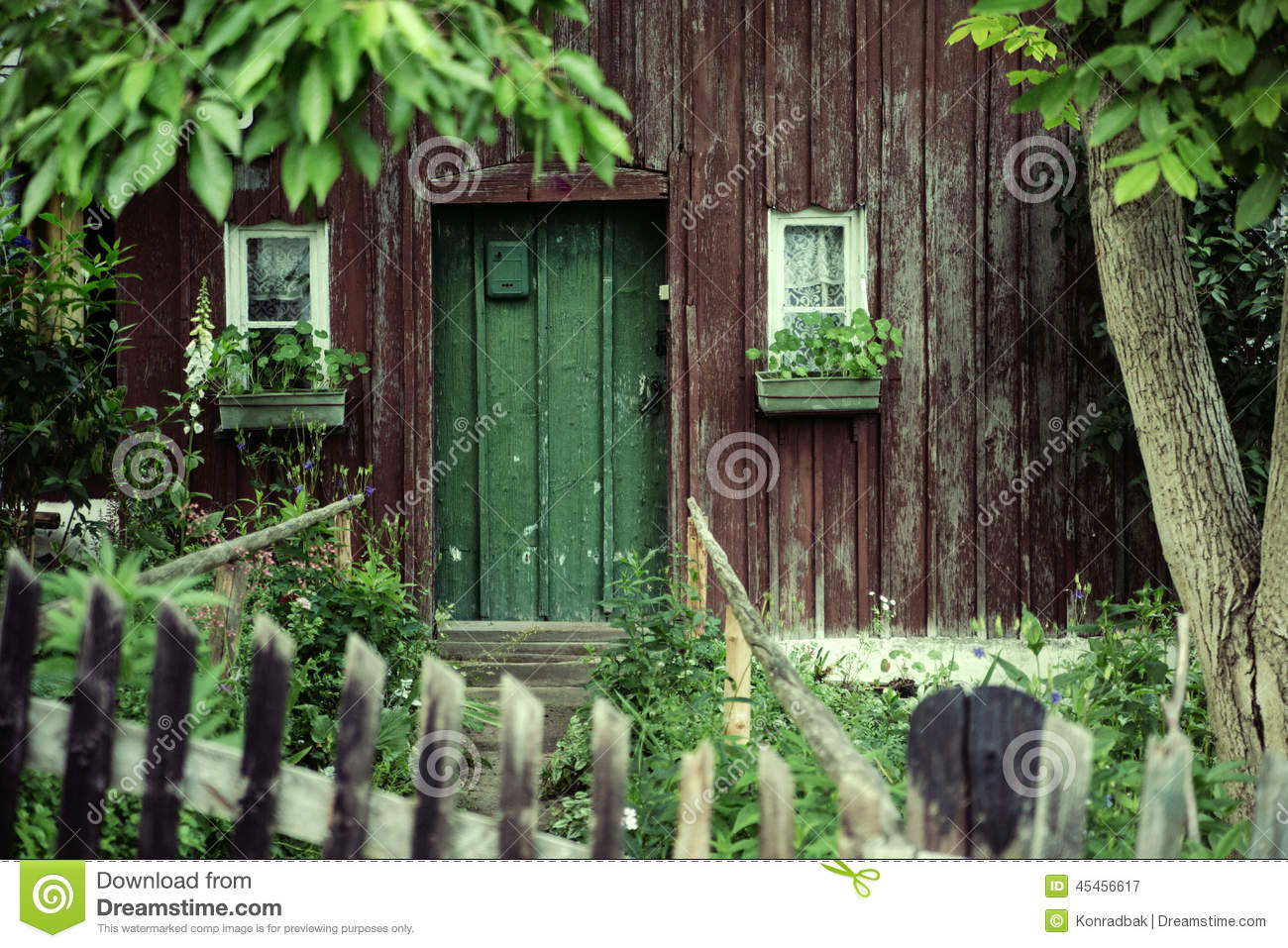 Old house with a deep green door stock photo image 45456617 for Old deep house
