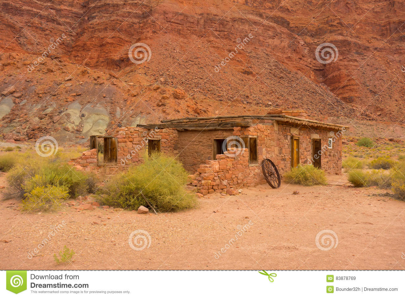 An old house in the desert stock image  Image of eroding - 83878769