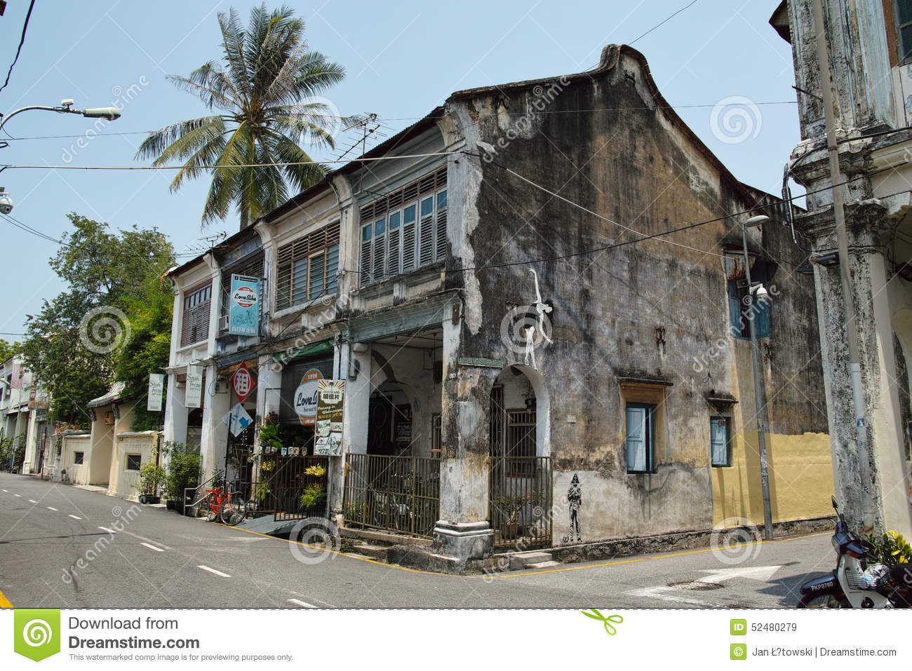 Royalty free stock images old house in georgetown image for Classic house kl